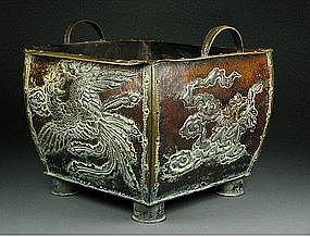 Japanese Tea Ceremony HIBACHI Brazier - Phoenix Bird