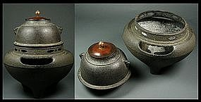 Japanese Tea Ceremony Chagama Tetsubin Set Iron Pot