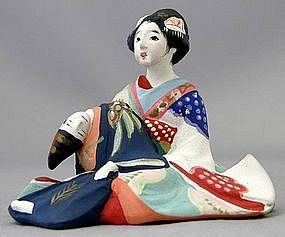 Japanese Hakata Erotica Shunga Doll Okimono Statue