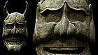 Giant Japanese Hannya Evil Oni Mask Men Wood Sculpture