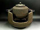 Japanese Tea Ceremony TETSUBIN Chagama Pot Brazier Set