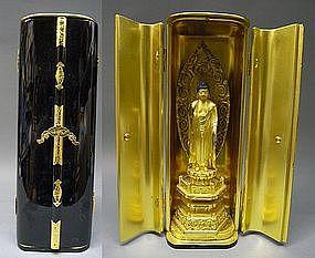 Fine Japanese Amida Nyorai Buddhist Statue Zushi Shrine