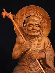 Japanese Buddhist Arhat Lohan ASITA Sculpture Statue
