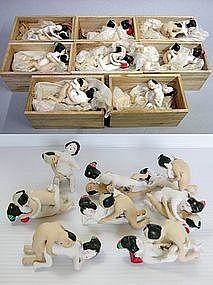 Japanese SHUNGA Erotic Hakata Samurai Geisha Doll Set