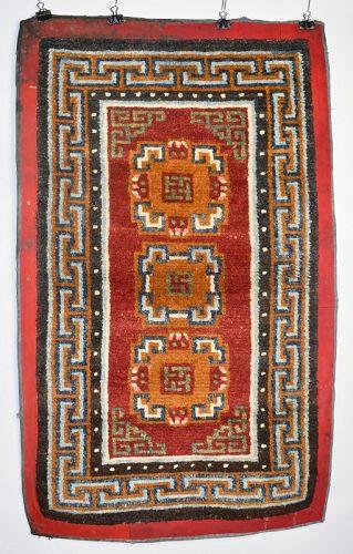 Late 19th C Tibetan Khaden Rug