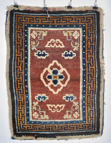 Tibetan Saddle Top Rug, Tibet, 19th C