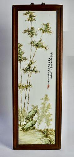 Liu Yucen Porcelain Plaques (4) Republic Period