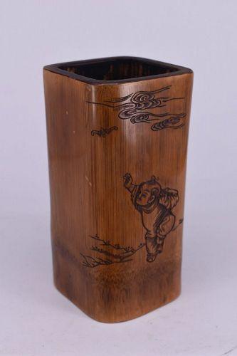 A Republic Period Bamboo Brush pot