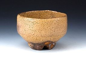 Hagi-yaki Chawan by Yoshida Shuen - w Signed Box and Seal