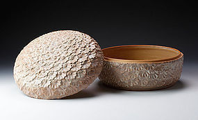A Splendid Hagi-yaki �Jikiro� Bowl for Tea Ceremony by Shibuya Deishi