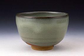 A Fine Celadon Chawan By Living National Treasure Nakajima Hiroshi