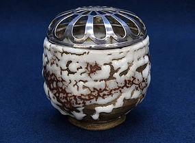 A Unique Oni Shino Koro with Silver Globe