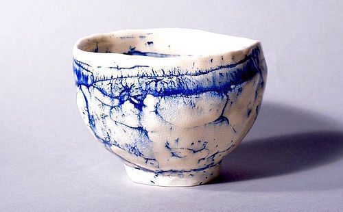 A Contemporary Chawan by Hashimoto Machiko