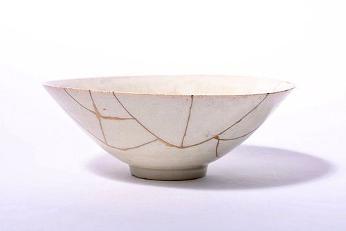 Porcelain Hira Bowl with Gold Repair