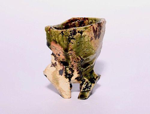 Shigaraki Guinomi Sake Cup by Kowari Tetsuya