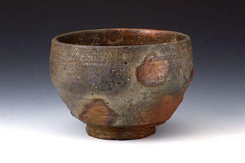 Edo Period Bizen-yaki Chawan w Signed Sokuchusai Omotesenke Box