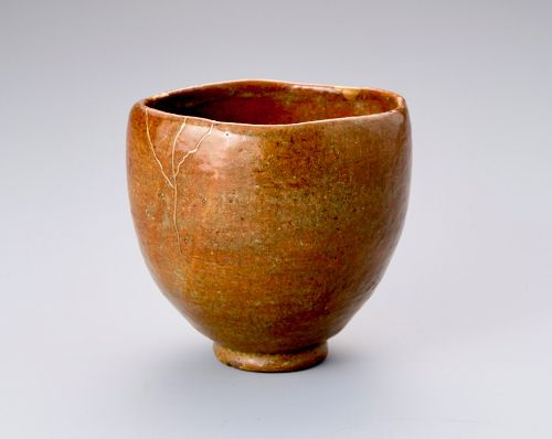 A Tall Wan-nari Tea-bowl with Gold Repairs by Ohi Chozaemon III