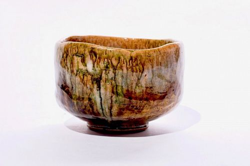 An Ame-yu Tea Bowl by Ohi Ippei (1920 - 1993)