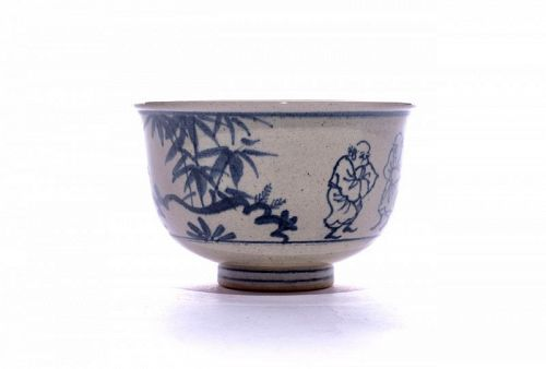 Zeze-yaki Tea Bowl from Kageroen Kiln