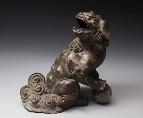 Antique Bronze Shishi (Guardian Lion Dog)
