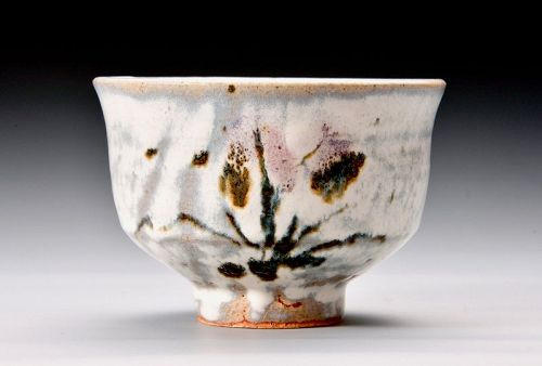 An Iris Tea Bowl by Murakami Yoichi