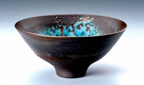 An Elegant Tenmoku-gata Tea Bowl by Hideo Torazawa