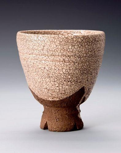 Edo Period Hagi Tea Bowl with Gold Repairs