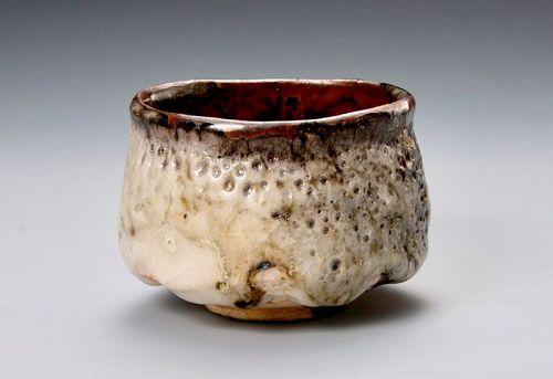 An Oni Hagi Tea Bowl from Tenpozan Kiln (Hirose Tanga)