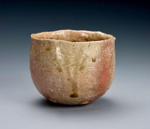 A Shigaraki Tea Bowl by Sugimoto Sadamitsu