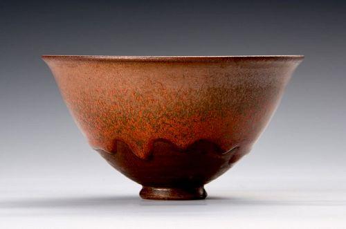 An exceptional Tenmoku tea bowls with Yohen glazing