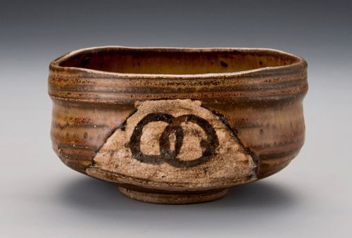 An Excellent Edo Period Oribe Tea Bowl with Poetic Name �Toma-bune�