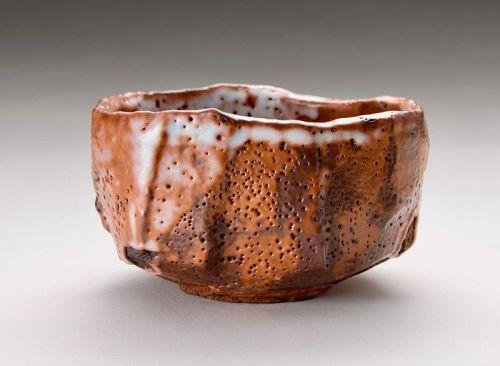 A Shino Tea Bowl by Takauchi Shugo