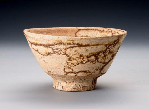 A Bizen Tea Bowl with Kaiyu Glaze by Sozan Kaneshige