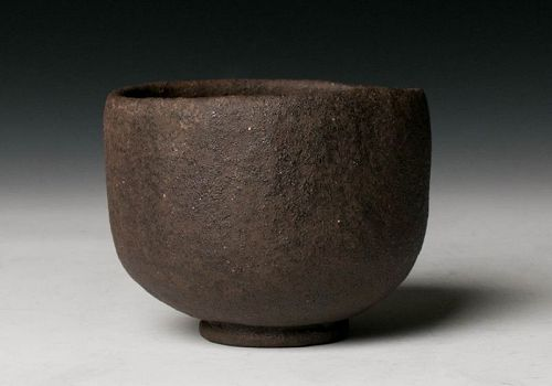 A Raku Tea Bowl by Tamamizu Souske