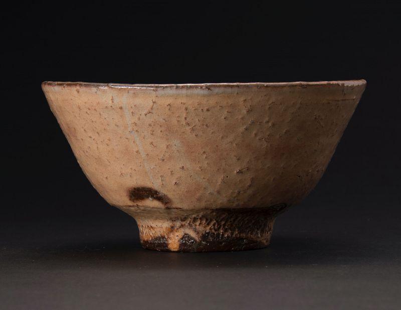 A Hagi Tea Bowl by Tahara Tobei XII (Urasenke Tea Master Item)
