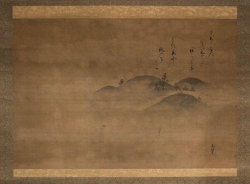 A Hanging Scroll by Kano Minenobu (1662 - 1708)
