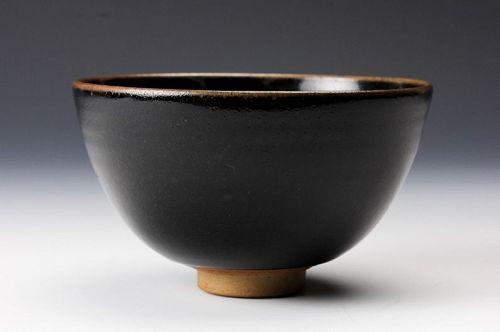 "A ""Koyo"" Tenmoku Tea Bowl with Silk Pouch by Touetsu Kiln"