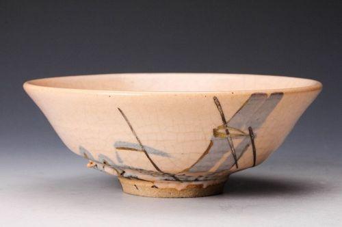 A Porcelain Hira Tea Bowl by Miura Chikusen III (Tea Master Item)