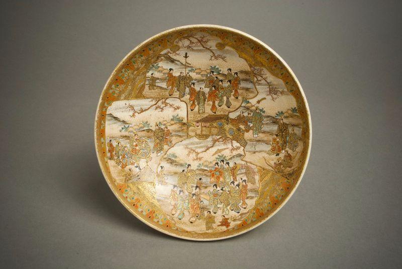 A Japanese Satsuma bowl by Shuzan