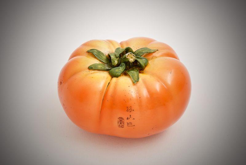 Ando Rokuzan – A Japanese ivory study of a tomato