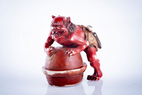 Tomomasa - A Japanese netsuke of an oni