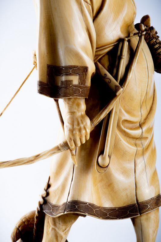 Kogetsu – A Japanese okimono of an Ainu hunter