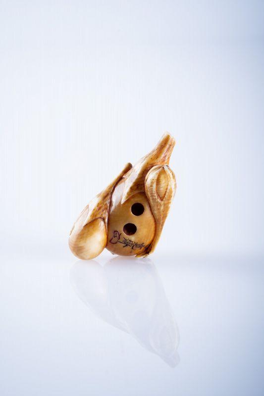 Kansei – A Japanese netsuke of eggplants