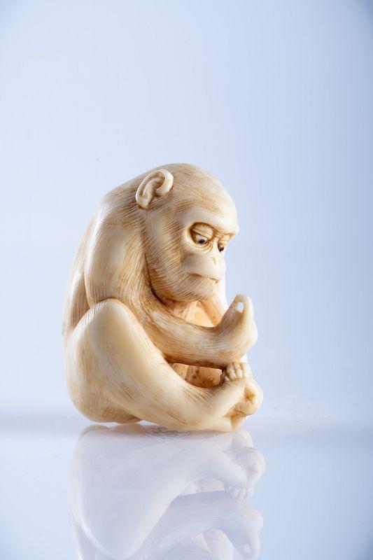 Mitsuhide – A Japanese netsuke of a monkey