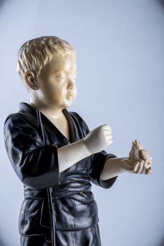 Hiroko - A Japanese okimono of a child