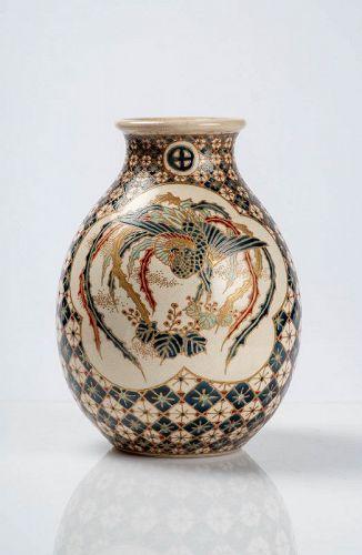 Senzan - A Japanese Satsuma vase