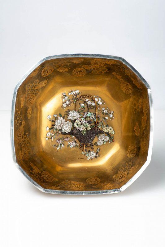 A Japanese Lacquer and Shibayama bowl