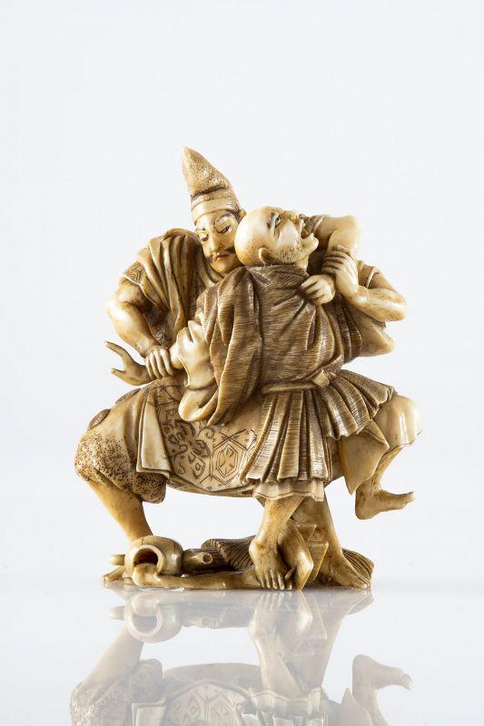A Japanese okimono of Tadamori legend