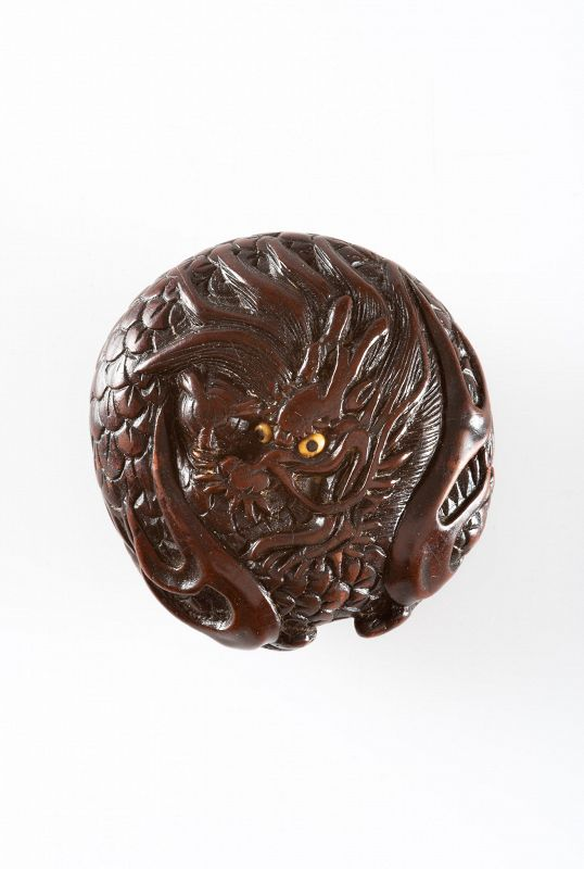 Ryūsa – A Japanese netsuke of Ryu dragon