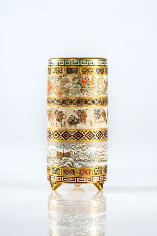 Yabu Meizan - A Japanese Satsuma vase
